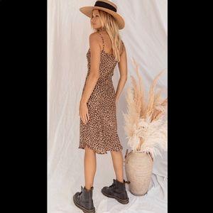 Run Wild Leopard Midi Dress